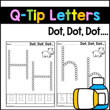 Q-Tip Painting Letters - Fine Motor Skills Worksheets