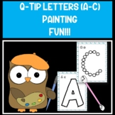 Q-Tip Painting Letters Fine Motor Practice PreK-Kinder Free A-C only!