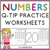 Q Tip Painting Numbers Worksheets
