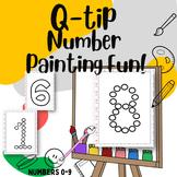 Q-Tip Painting Number Fine Motor Practice PreK-Kinder 0-9
