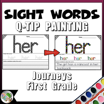 Journeys Sight Words Q-Tip Painting First Grade Units 1-6