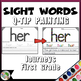 Sight Words Q-Tip Painting (Compatible With Journeys First Grade Units 1-6)