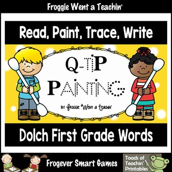 Q-Tip Painting Sight Words--Dolch First Grade Words Read,
