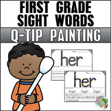 Dolch Sight Words (First Grade List) - Q-Tip Painting