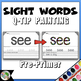 Q-Tip Painting Sight Words Pre-Primer - High Frequency Words