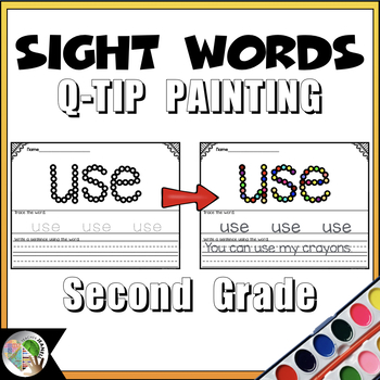 Dolch Sight Words  (Second Grade List) - Q-Tip Painting