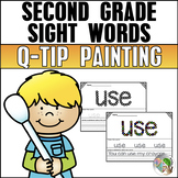 Sight Words Second Grade List - Q-Tip Painting - High Frequency Words