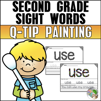 Sight Words  (Second Grade List) - Q-Tip Painting