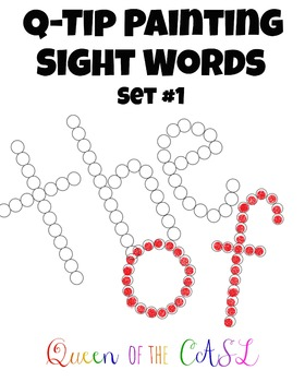 Q-Tip Painting Sight Words Set #1