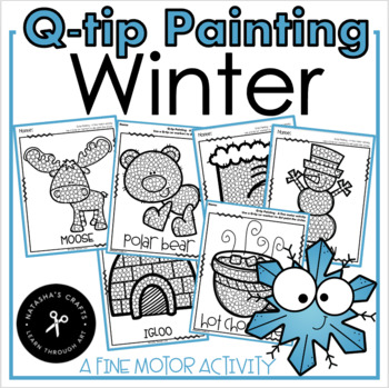 Q-Tip Painting Winter / A Fine Motor Activity