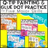 Q-Tip Painting and Glue Dot Fine Motor Practice Seasons BUNDLE