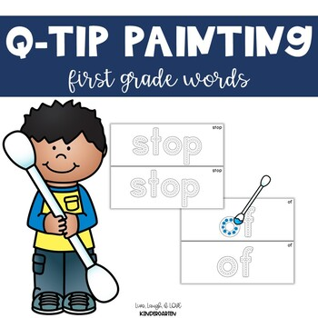 Q-Tip Painting {first grade words}