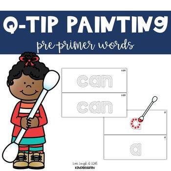 Q-Tip Painting {pre-primer words}