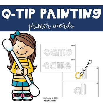Q-Tip Painting {primer sight words}
