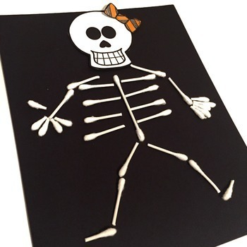 q tip skeleton craft template - q tip skeleton free by teaching in the tongass tpt