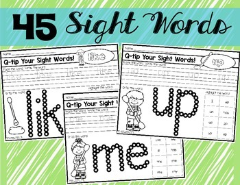 Q-Tip Sight Words!