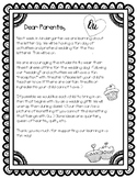 Q & U Wedding Letter to Parents