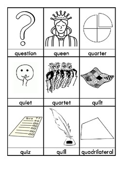 Q. Words beginning with Q flascards