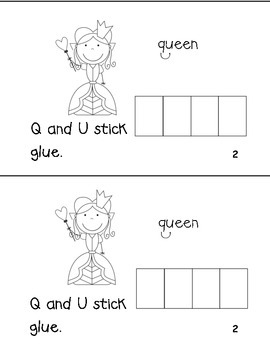 """Q and U Stick Like Glue"" Sight Word Reader"