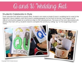 Q and U Wedding Party Printables Pack