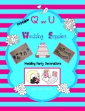 Q and U Wedding Printable Decorations/Supplies
