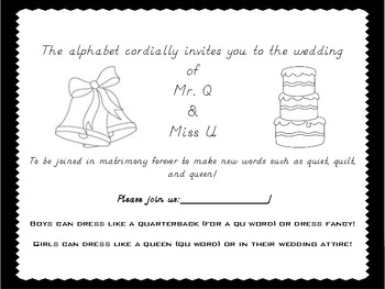 Q and U are getting married!  (Invitation)