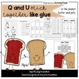 Q and U stick together like glue - or peanut butter
