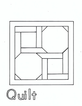 Q for Quilt coloring page