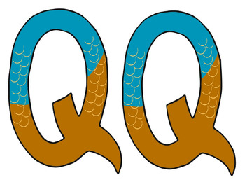 Letter Q Art: Q is for Quail~ Uppercase