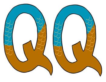 Letter Q Art: Q is for Quail~ Uppercase
