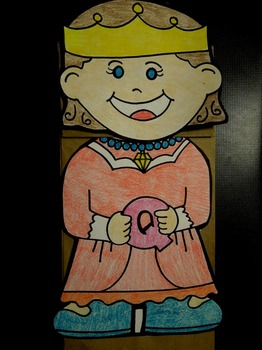 Q is for Queen paper bag puppet