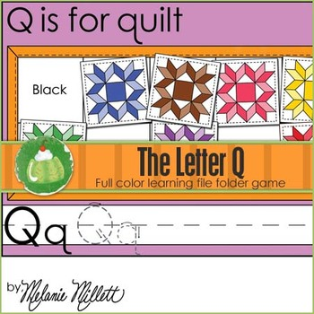 Q is for Quilt File Folder Game