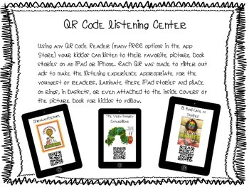 Q it Up for Spring! {20 iPad QR Code Listening Center Books}