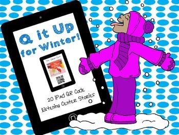 Q it Up for Winter! {20 iPad  QR Code Listening Center Books}