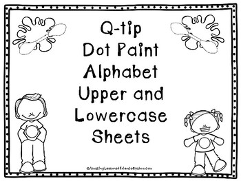 Q-tip Dot Paint Alphabet Upper and Lowercase Sheets