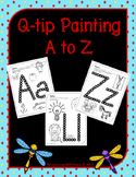 Q-tip Painting A-Z Worksheets