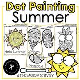 Q-tip Painting Summer / Fine Motor Activity