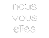 Q-tip Sight word practice (in French)