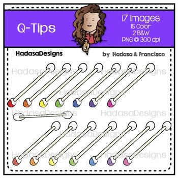 Q-tips Clip Art Set