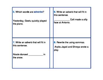 Q1 Grammar Scoot