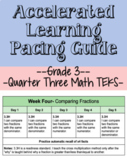 Q3 Grade 3 Math Accelerate Learning Pacing Guide (TEKS)- Editable