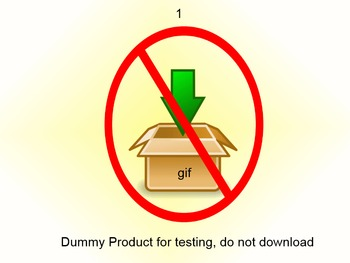 QA Testing: Item for testing purpose only