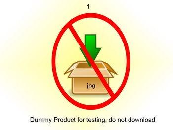 QA Testing: this item is for testing purpose