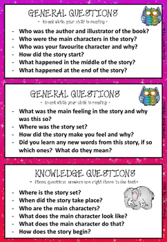 QAR Comprehension Question Cards-Free