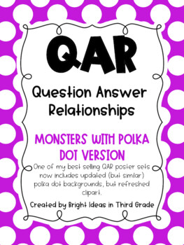 QAR Monster Theme Posters {Question Answer Relationships}