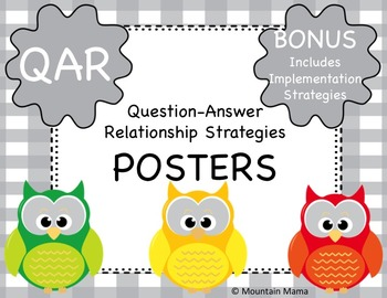QAR Posters and Bookmarks Question-Answer Relationship Strategies