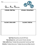 QAR Practice Sheet for: QAR Game and Practice using Nursery Rhymes.