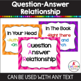 QAR- Question Answer Relationship {17 anchor charts, bookm