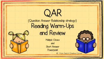QAR Reading Warm-Ups and Review