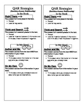 QAR Strategies Bookmark